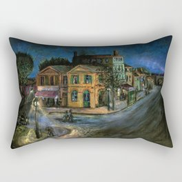 The Yellow House (oil on canvas) Rectangular Pillow