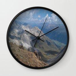 Swiss Mountains Wall Clock