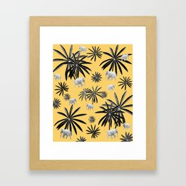 Palm Tree Elephant Jungle Pattern #4 (Kids Collection) #decor #art #society6 Framed Art Print