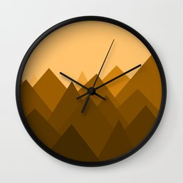Abstract Sand Dunes Wall Clock