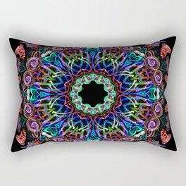 LED Hoop Mandala w/ Fire Rectangular Pillow
