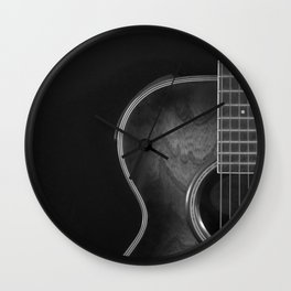 Crafter acoustic B&W Wall Clock