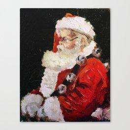 Santa With Jingle Bells Canvas Print