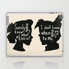 Surely you Know what a Kiss is - I shall when You Give it to Me - Peter Pan Art Print Laptop & iPad Skin