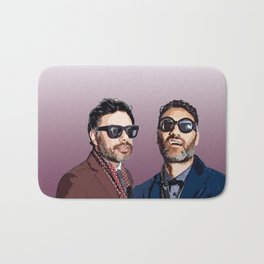 Jemaine and Taika 2 Bath Mat