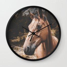 Rustic Horse Wall Clock