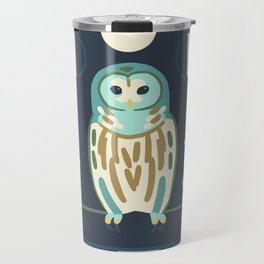 Barred Owl + Brown Bats Travel Mug