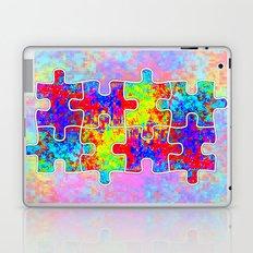Autism Colorful Puzzle Pieces Laptop & iPad Skin