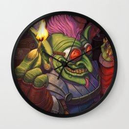 The Firework Maker Goblin Wall Clock
