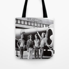 Led#Zeppelin Band and Airplane The Starship Boeing 720 in 1973 Modern Postcard Tote Bag