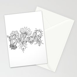 Bollocks Adult Coloring Design Stationery Cards