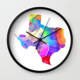 Texas Watercolor Wall Clock