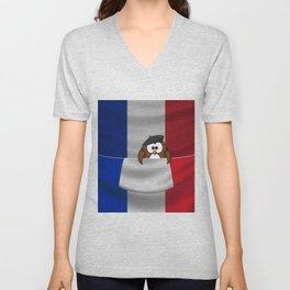 Frenchy owl Unisex V-Neck