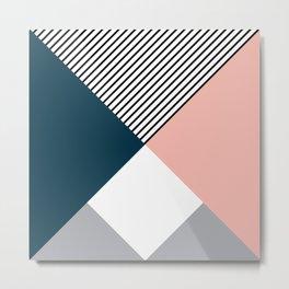 Rhombus, triangles and stripes Metal Print