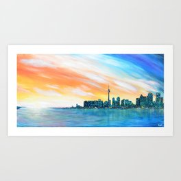 Toronto Sunset Art Print