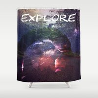 explore Shower Curtains featuring Explore by Isaak_Rodriguez