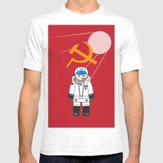 SOVIET MEDIUM Mens Fitted Tee White