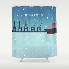 Hamburg winter Shower Curtain