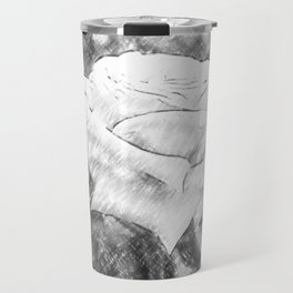 Pink Roses in Anzures 6 Charcoal Travel Mug