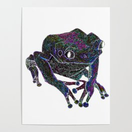Psychedelic Giant Monkey Frog Poster