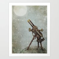 moonrise Art Prints featuring Moonrise by Eric Fan