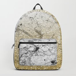 Amalfi golden ombre marble Backpack