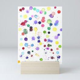 Watercolor Splash Paint Splatter Mini Art Print
