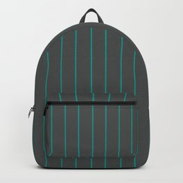Gray with Turquoise Pinstripes Backpack