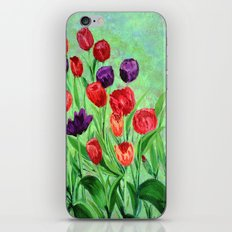 Tulips in the garden  iPhone & iPod Skin
