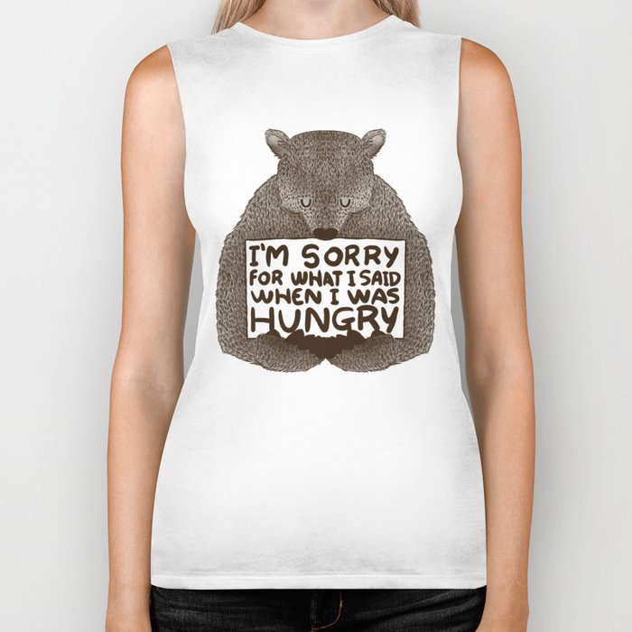 I'm Sorry For What I Said When I Was Hungry Biker Tank