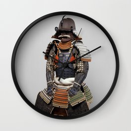 Historical Samurai Armor Photograph (18th Century) Wall Clock