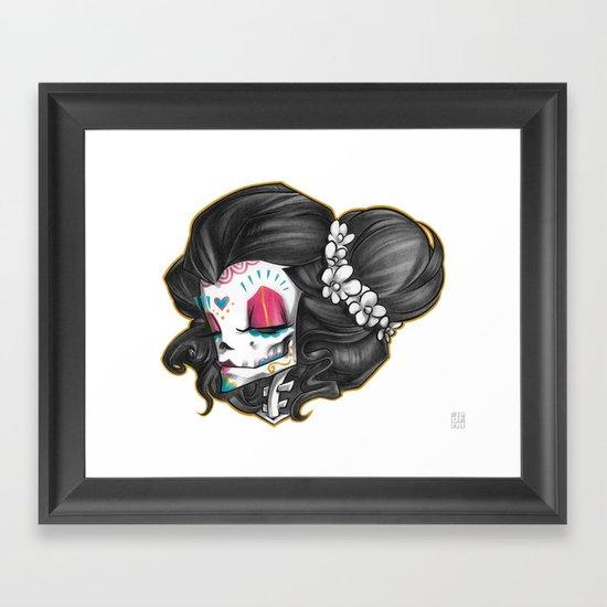 Madame Muerte COLOR Framed Art Print