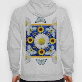 EVERYTHING'S COMING UP DAISIES & BUTTERFLIES  BLUE  ART Hoody