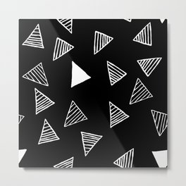 Geo Triangles Metal Print