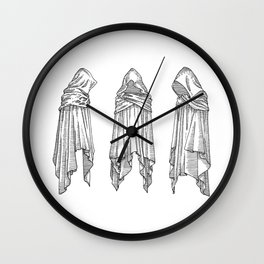 invisible souls in visible bodies Wall Clock