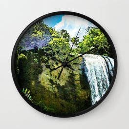 "series waterfall ""Cachoeira Grande"" Lagoinha Wall Clock"
