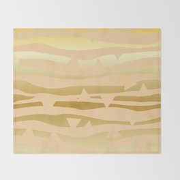 Golden Waves #Society6 #decor #buyart Throw Blanket