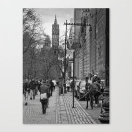 Central Park South Walking East Canvas Print