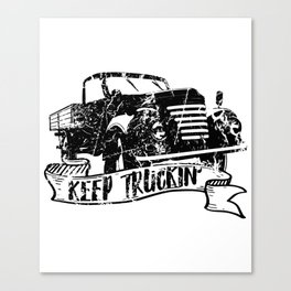 Keep Truckin' Canvas Print