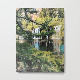 Pixelating Hanging Lake Metal Print