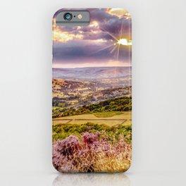 Scenic view of Hope valley, Peak District, U.K. iPhone Case