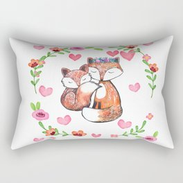 Mama Fox and Baby Rectangular Pillow