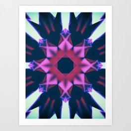 Dark Violet Mandala Art Print