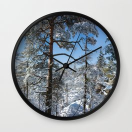 Winter in March Wall Clock