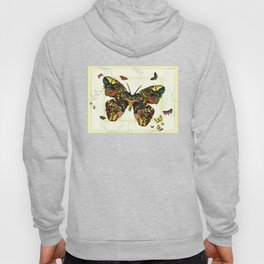 Colorful Butterfly Collage Hoody