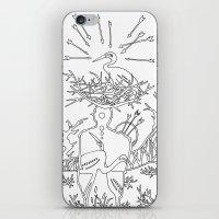 cowboy iPhone & iPod Skins featuring Cowboy by Mariia Krugliakova