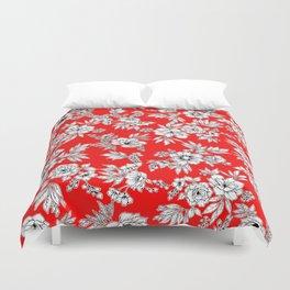 The Red Garden Duvet Cover