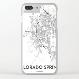 Minimal City Maps - Map Of Colorado Springs, Colorado, United States Clear iPhone Case