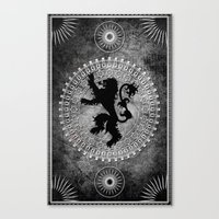 lannister Canvas Prints featuring House Lannister by Micheal Calcara