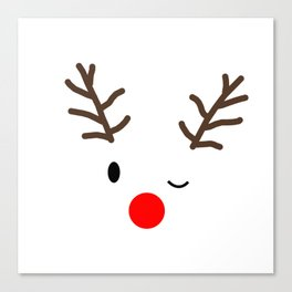 Reindeer face Canvas Print